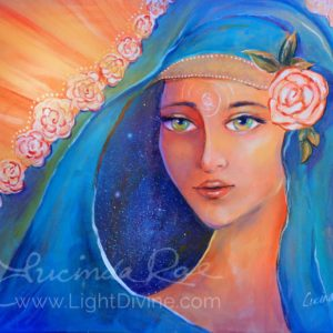 """ALL ROSES ARE BEAUTIFUL, Original Painting by Lucinda Rae, 36″ x 24"""""""